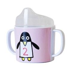 Färg&Form Panguin pals pipmugg rosa