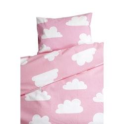 Färg&Form Moln bäddset för spjälsäng rosa