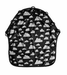 Färg&Form Moln barnvagnsdraperi svart
