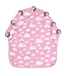 Färg&Form Moln barnvagnsdraperi rosa