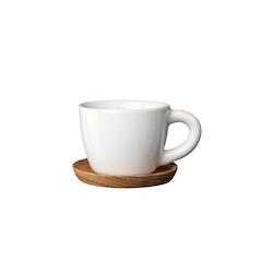 Rörstrand Höganäs espressokopp med träfat