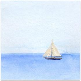Nobhilldesigners kort med kuvert Segelbåt