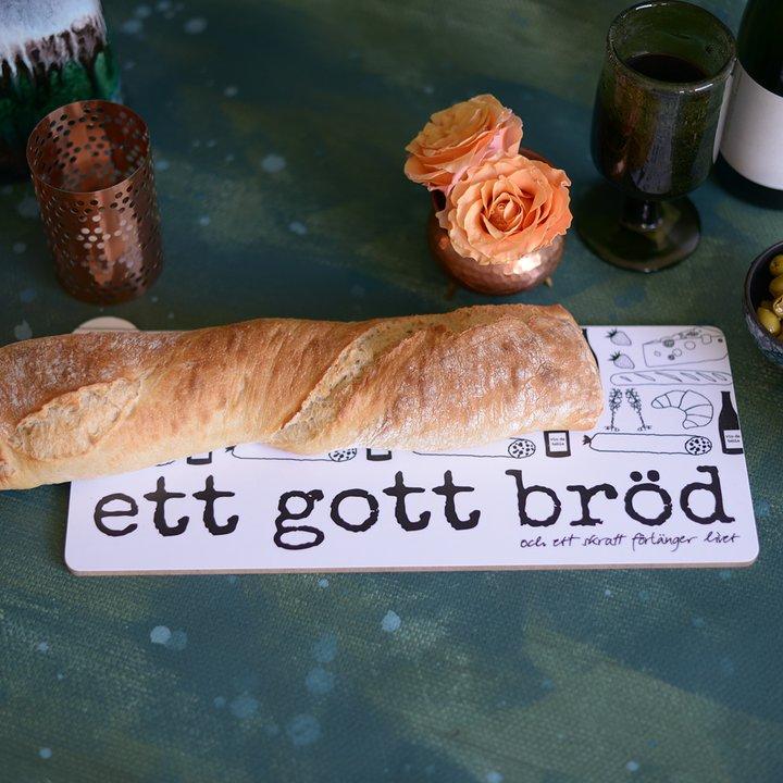 """Erika Tubbin skärbräda """"Ett gott bröd"""""""