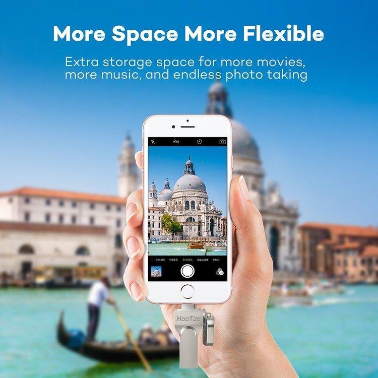 HooToo 128Gb flashminne för iOS