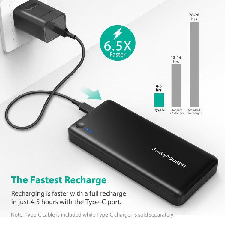 RAVPower 26800mAh USB-C 30W powerbank