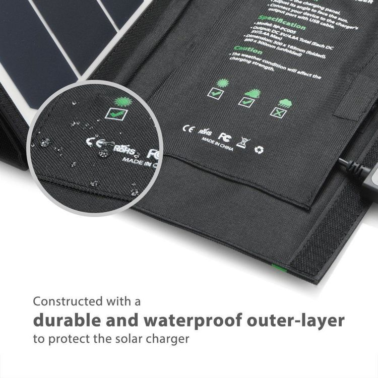 RAVPower Solcellsladdare, 24W