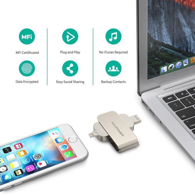 RAVPower 64Gb flashminne och minneskortadapter