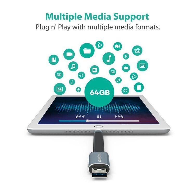 RAVPower 64Gb flashminne och laddningskabel