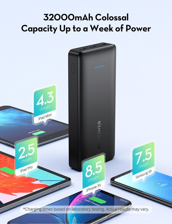 RAVPower 32000mAh powerbank