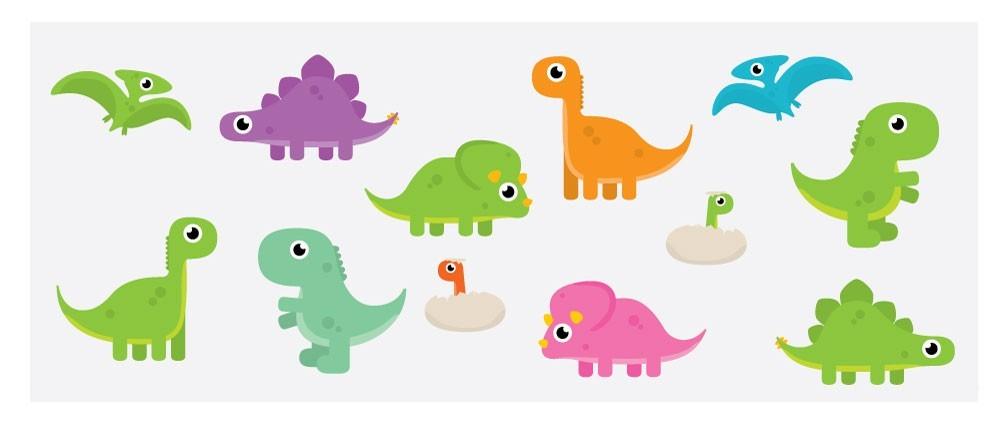Fönsterfilm - Dinosaurier