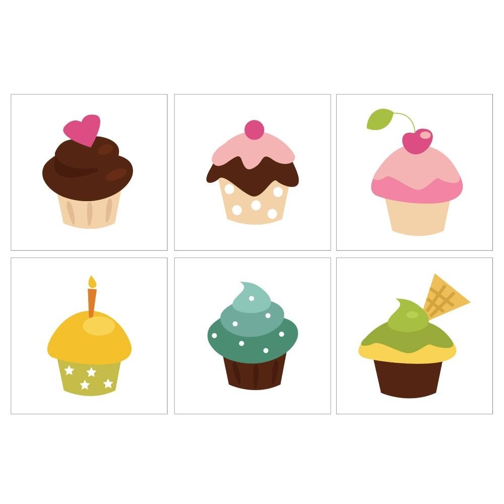 Kakeldekor 6st, Cupcakes