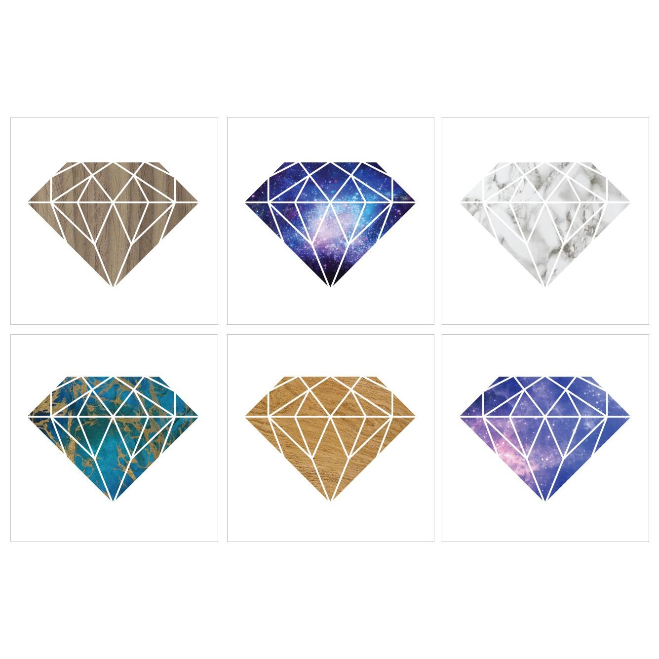 Kakeldekor 6st, Diamant