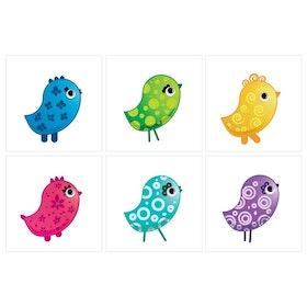 Kakeldekor 6st, Kycklingar