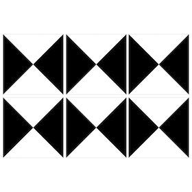 Kakeldekor 6st, Trianglar