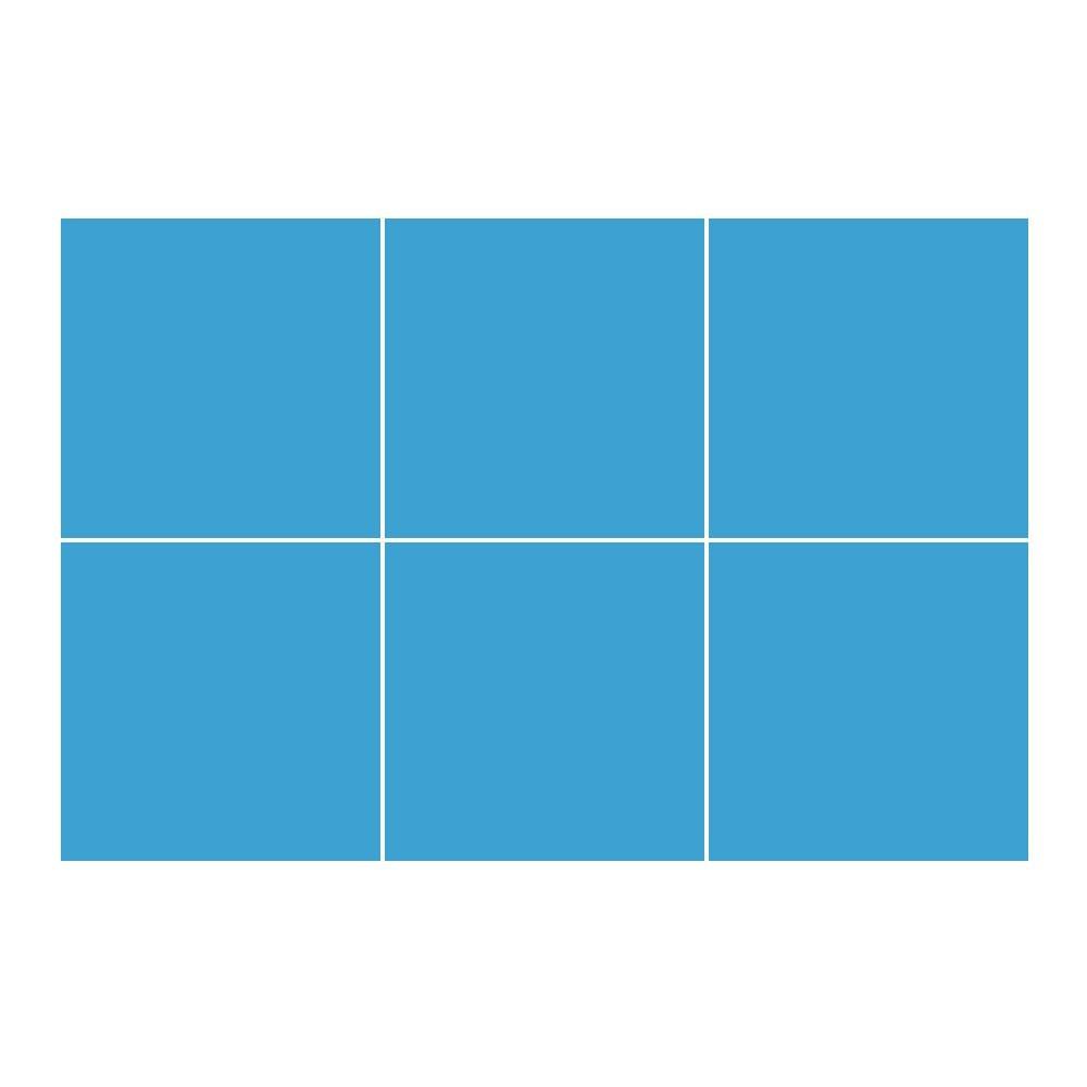 Kakeldekor, 6st  Blå