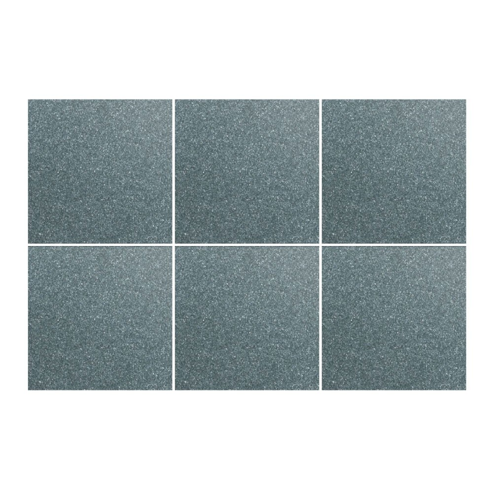 Kakeldekor, 6st  Grafitgrå metallic