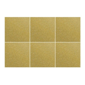 Kakeldekor, 6st  Guld metallic