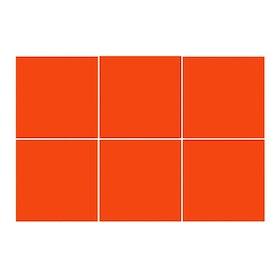 Kakeldekor, 6st  Orange