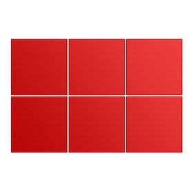 Kakeldekor, 6st  Röd