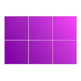Kakeldekor, 6st  Violett