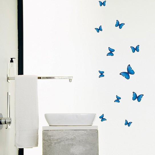 Väggdekor, Blåa fjärilar
