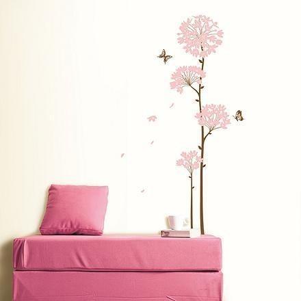 Väggdekor, Blommor med fjärilar