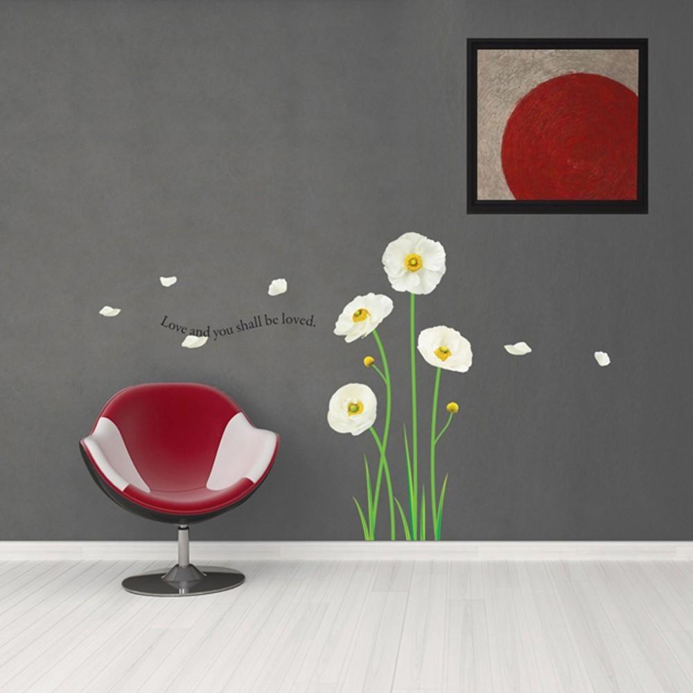 Väggdekor, Blommor och kärlek