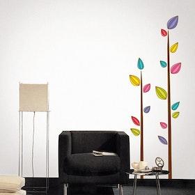Väggdekor, Färgglad träd