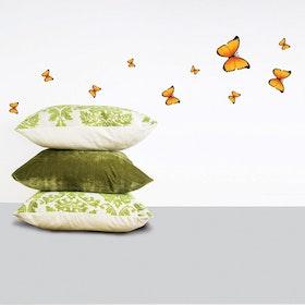 Väggdekor, Gula fjärilar