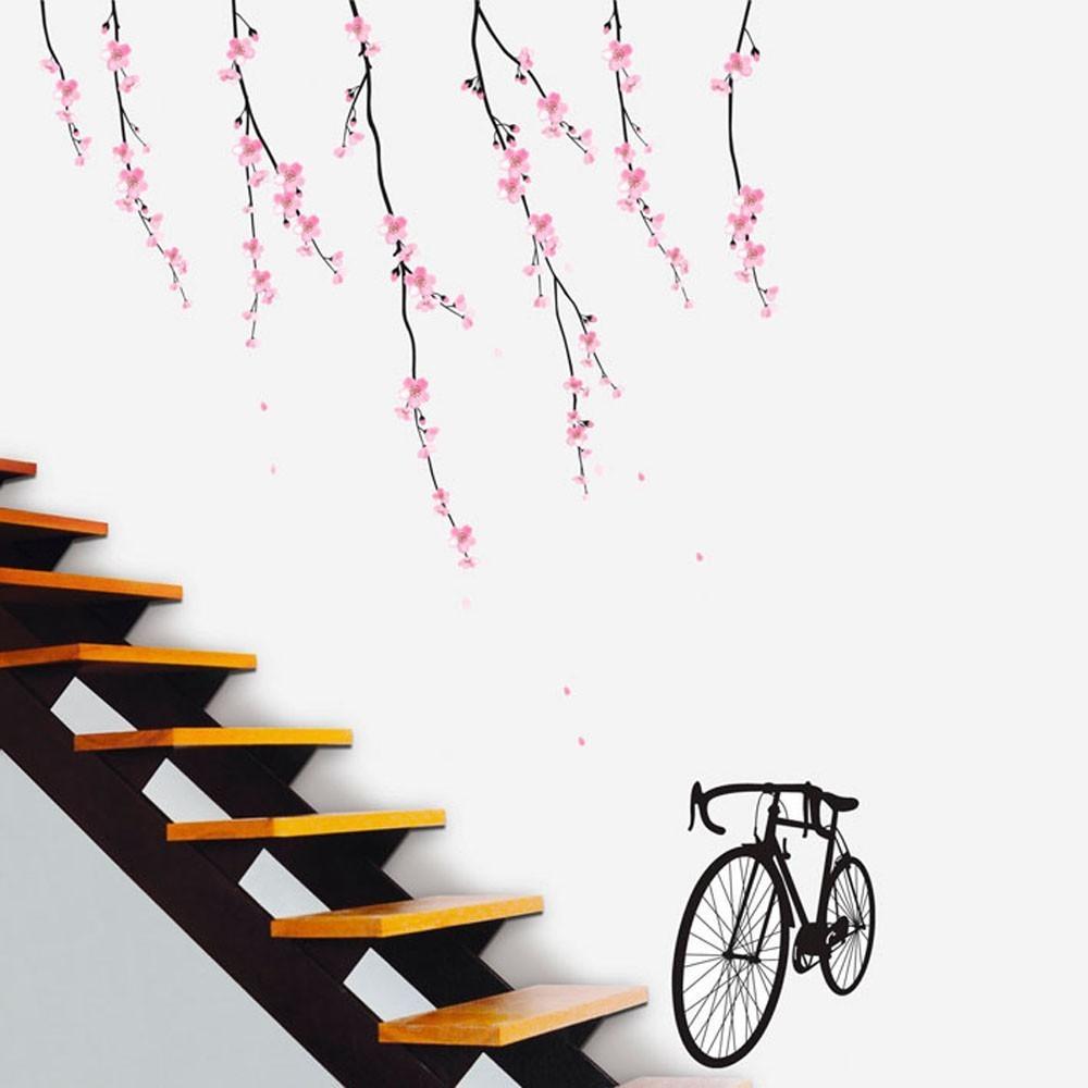 Väggdekor, Körsbärsgrenar med cykel