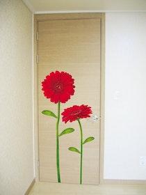 Väggdekor, Röd Gerbera
