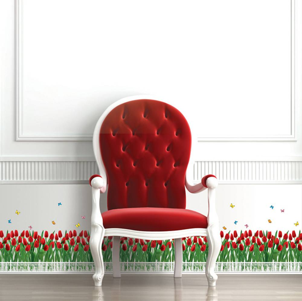 Väggdekor, Röda tulpaner