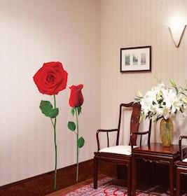 Väggdekor, Stora röda rosor