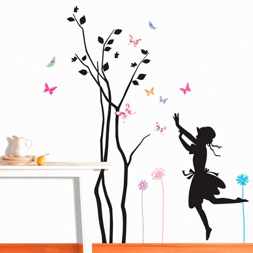 Väggdekor, Träd med flicka