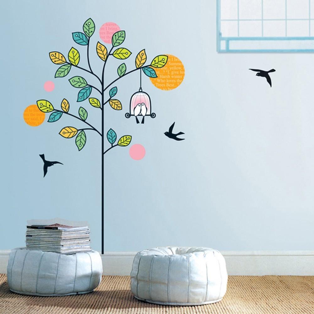 Väggdekor, Träd med fågelbur