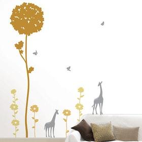 Väggdekor, Träd med giraff