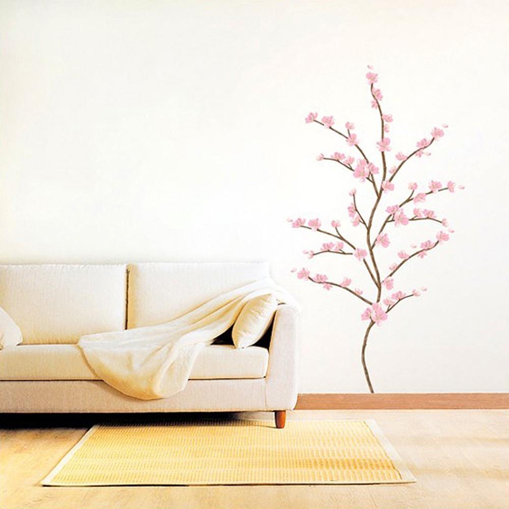 Väggdekor, Träd med rosa blommor