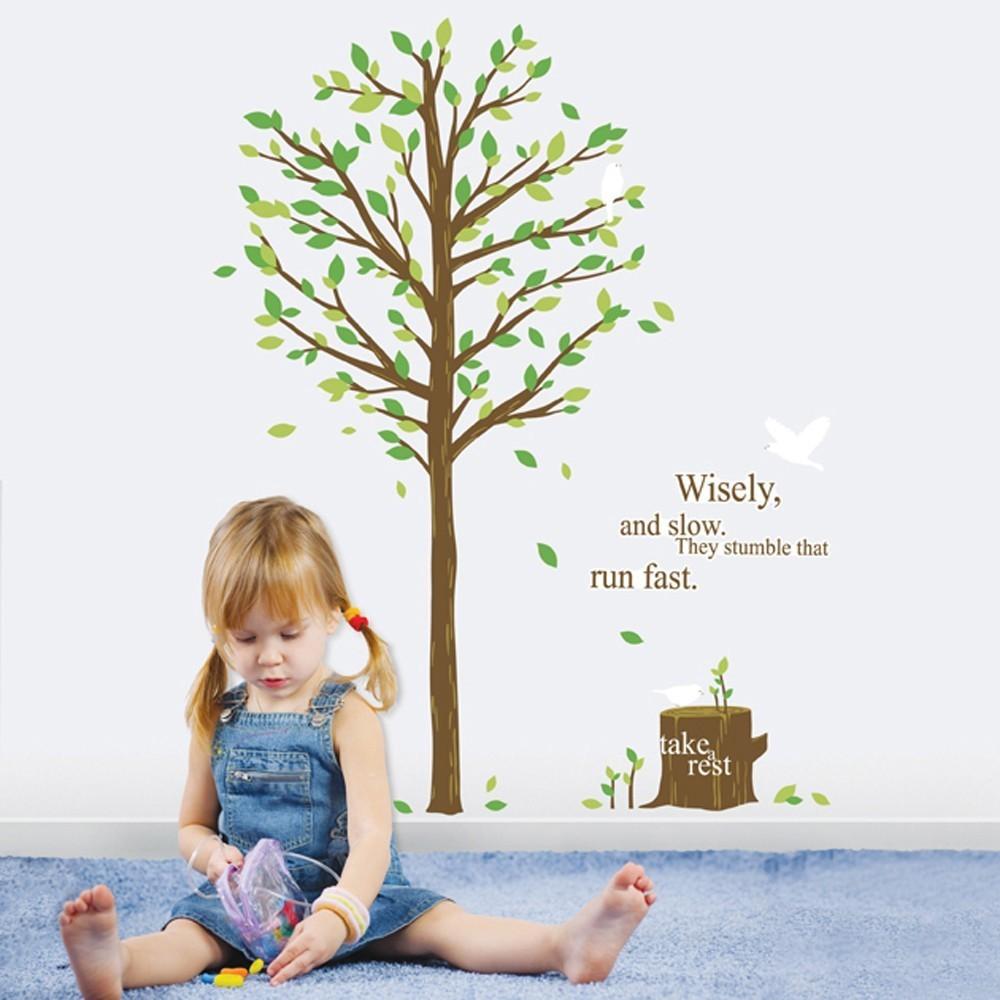 Väggdekor, Träd med text