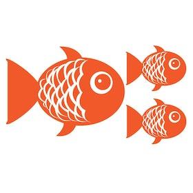 Väggis - Guldfiskar, 3st