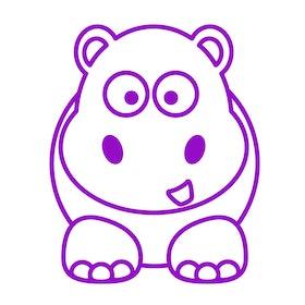 Väggis - Hippo