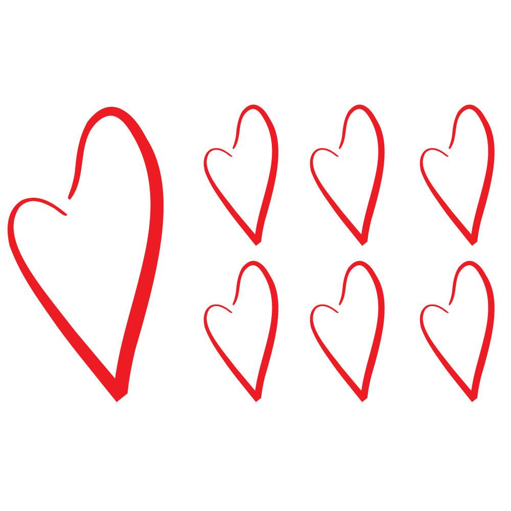 Väggis - Hjärtan, 7st