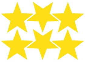 Väggis - Stjärnor Spetsiga, 6st