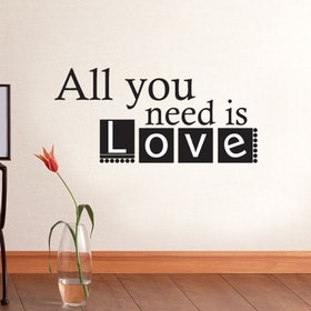 Väggord - All you need is Love