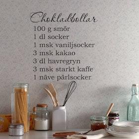 Väggord - Chokladbollar (recept)