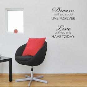 Väggord - Dream, Live