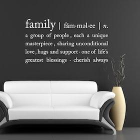 Väggord - Family (definition)