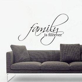 Väggord - Family is forever
