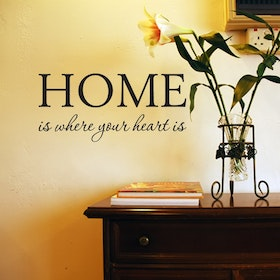 Väggord - Home is where your heart is