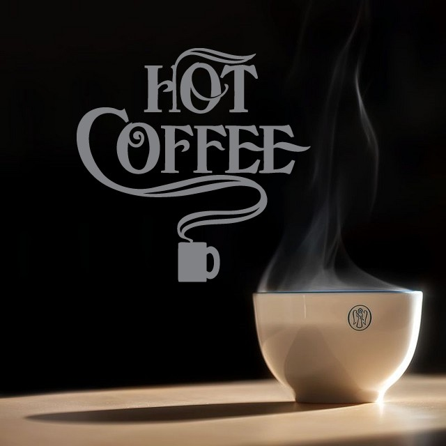 Väggord - Hot Coffee