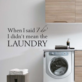 Väggord - I do Laundry